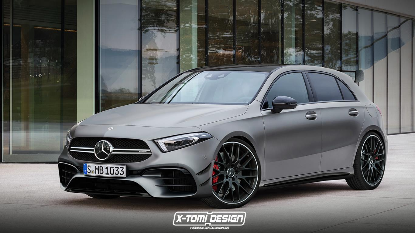 mercedes amg a45 2019 la mercedes classe a amg sera. Black Bedroom Furniture Sets. Home Design Ideas