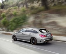 3/4 arri�re de la Mercedes CLA Shooting Brake