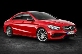 Mercedes CLA restylée rouge 2016