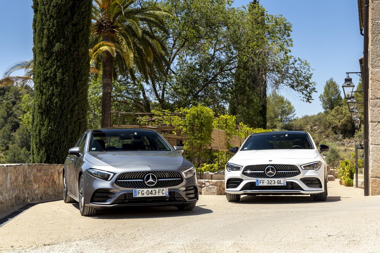 Comparatif : la Mercedes Classe A Berline défie la Mercedes CLA Coupé