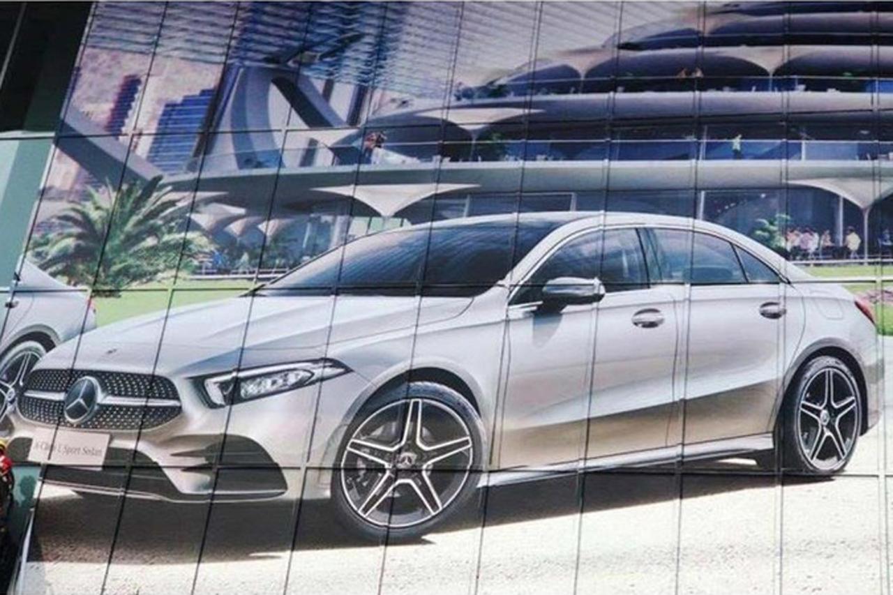 Mercedes Classe A berline 2018: première image en fuite