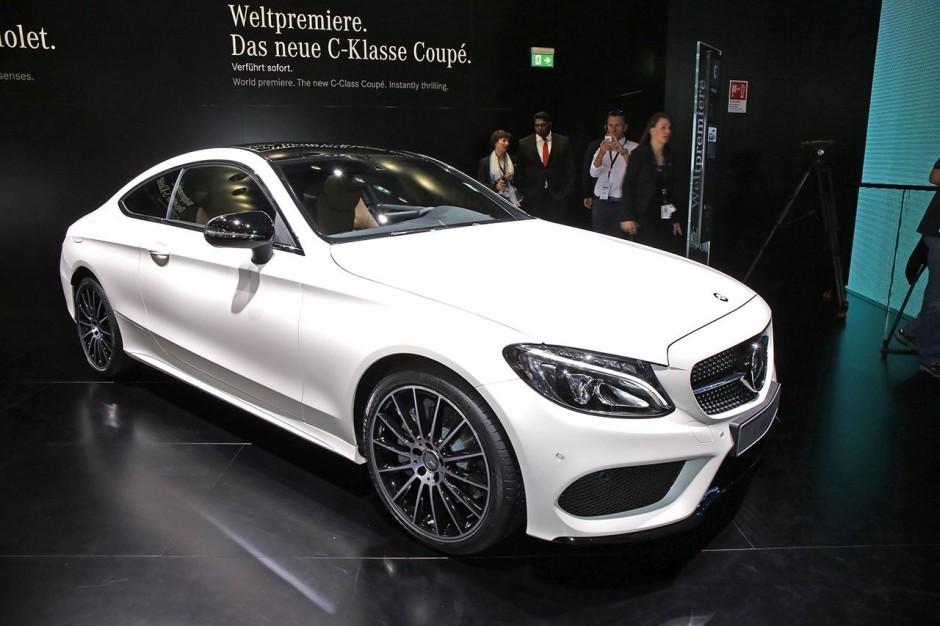 Avant Mercedes classe c coupé salon francfort 2015