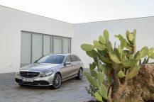 Mercedes Classe C break vue avant grise