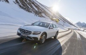 mercedes classe e all-terrain en virage