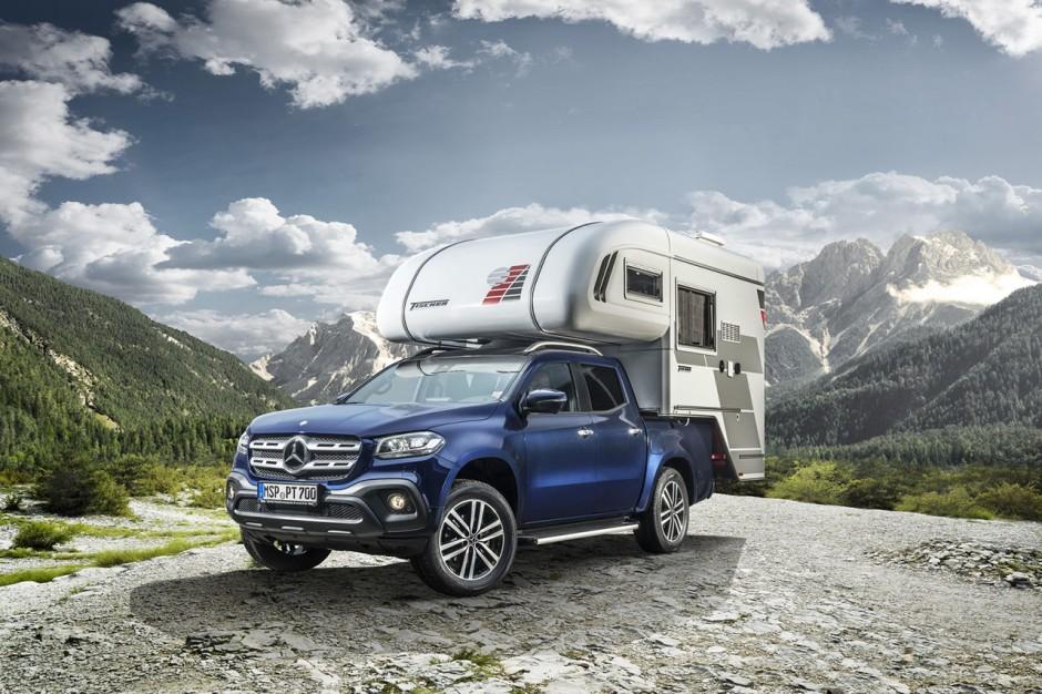 le mercedes classe x devient camping car pour le cmt show. Black Bedroom Furniture Sets. Home Design Ideas