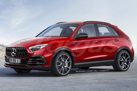 Mercedes GLA 2 2019 vue avant rouge illustration Didier RIC