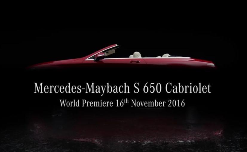 la mercedes maybach cabriolet s 650 au salon de los angeles 2016 photo 1 l 39 argus. Black Bedroom Furniture Sets. Home Design Ideas