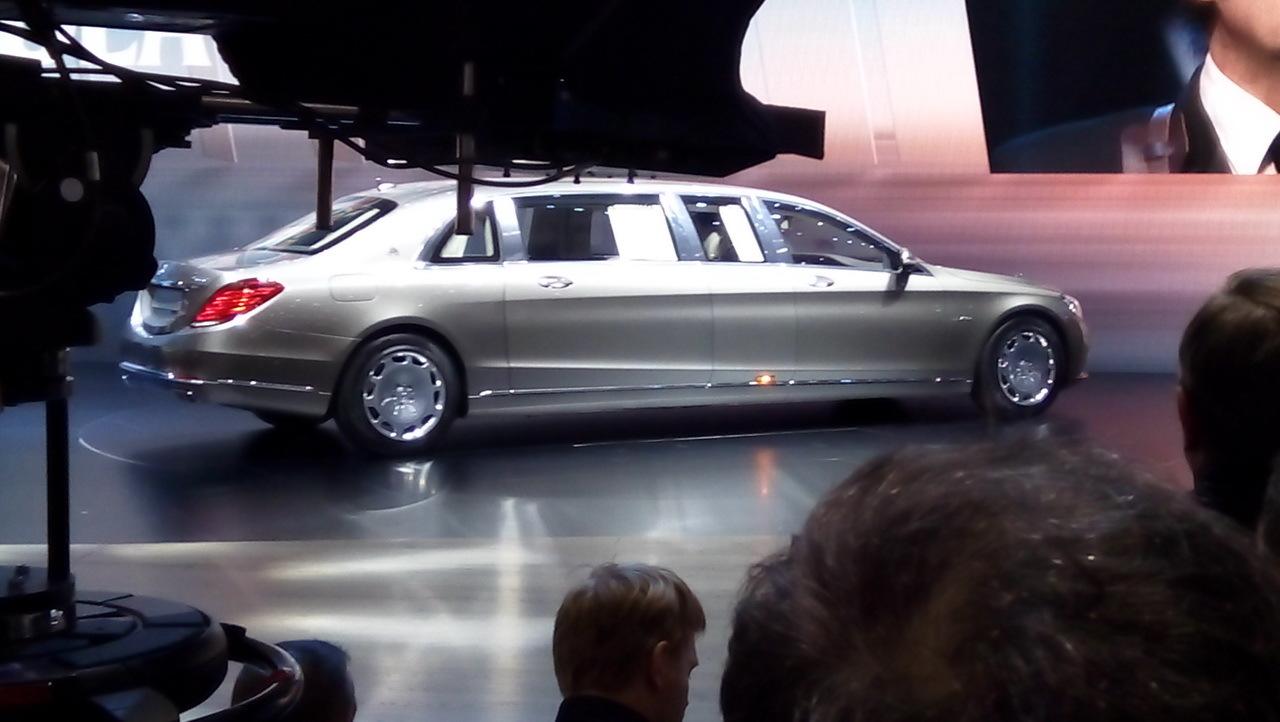 Mercedes maybach s600 pullman la plus longue du salon de for Prix salon de geneve 2015