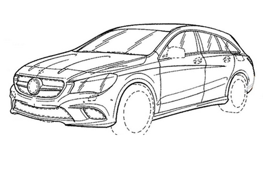Mercedes CLA Shooting Brake (2016) : discret restylage