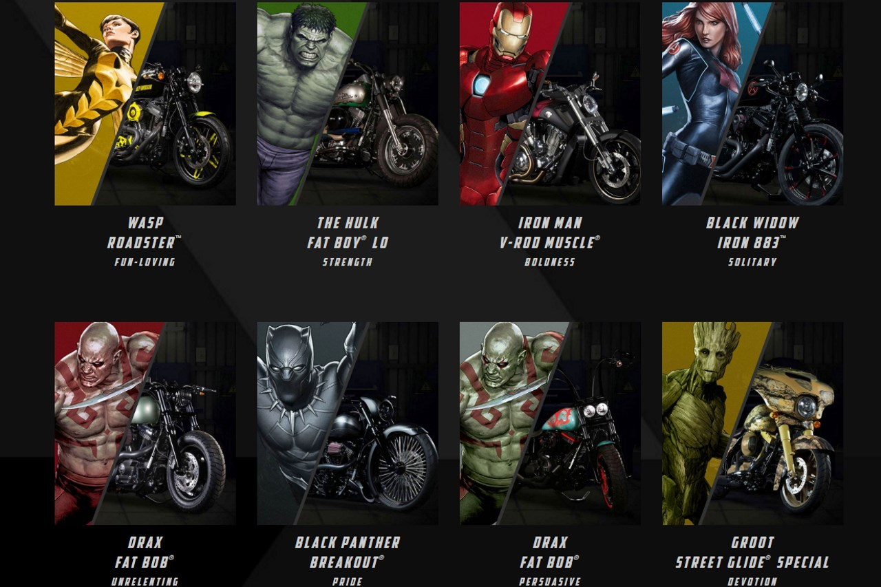Harley davidson et marvel cr 233 ent les motos des super h 233 ros l argus