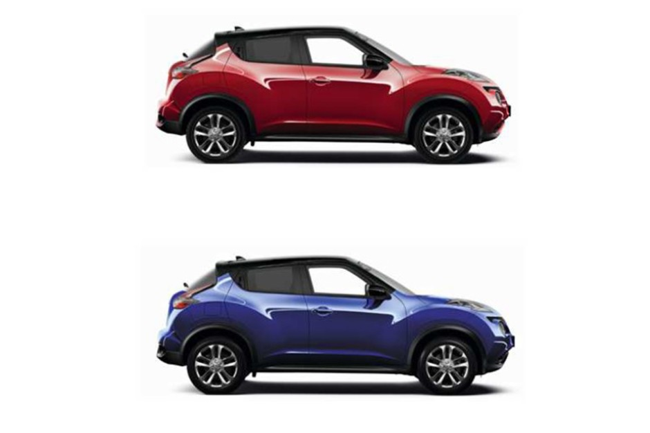 nissan juke une peinture bi ton pour la s rie blacktop photo 2 l 39 argus. Black Bedroom Furniture Sets. Home Design Ideas