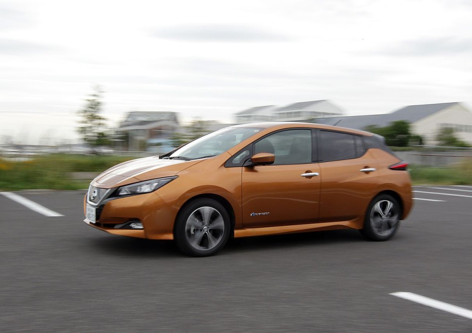 nouvelle nissan leaf 2018 premier essai en avant premi re photo 1 l 39 argus. Black Bedroom Furniture Sets. Home Design Ideas
