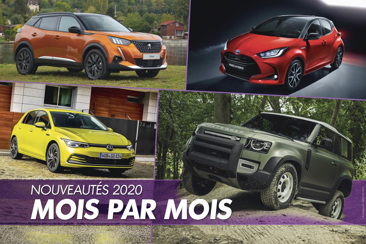 Le calendrier des nouveautés automobiles 2020 mois par mois