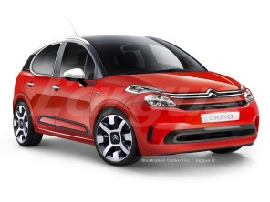 illustration photomontage nouvelle Citroën C3 III 2016