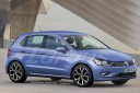 illustration futur Volkswagen Polo 2017 vue avant couleur bleue