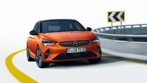 Opel Corsa Orange Fizz vue avant