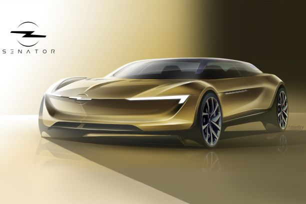 concept-car Opel Senator 2025 sketch design
