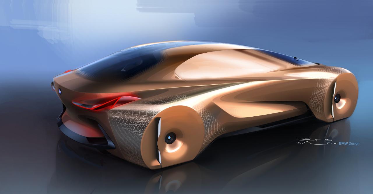 bmw vision next 100 ce concept car annonce la bmw de l. Black Bedroom Furniture Sets. Home Design Ideas