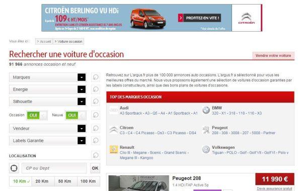 L'argus.fr donne un nouvel élan à ses petites annonces sur Internet