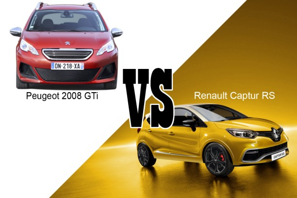 peugeot 2008 gti vs renault captur rs les suv de sport l 39 argus. Black Bedroom Furniture Sets. Home Design Ideas