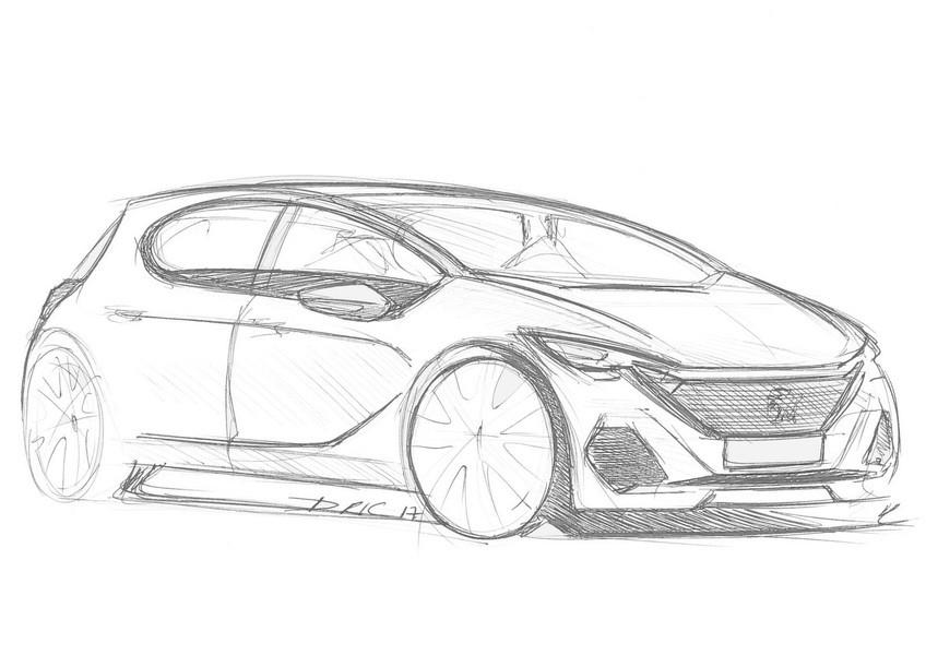 SCOOP. Nouvelle Peugeot 208 (2019) : premiers dessins et