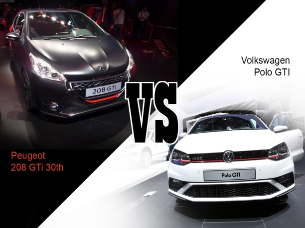 208 gti 30th vs polo gti le premier match en vid o l 39 argus. Black Bedroom Furniture Sets. Home Design Ideas