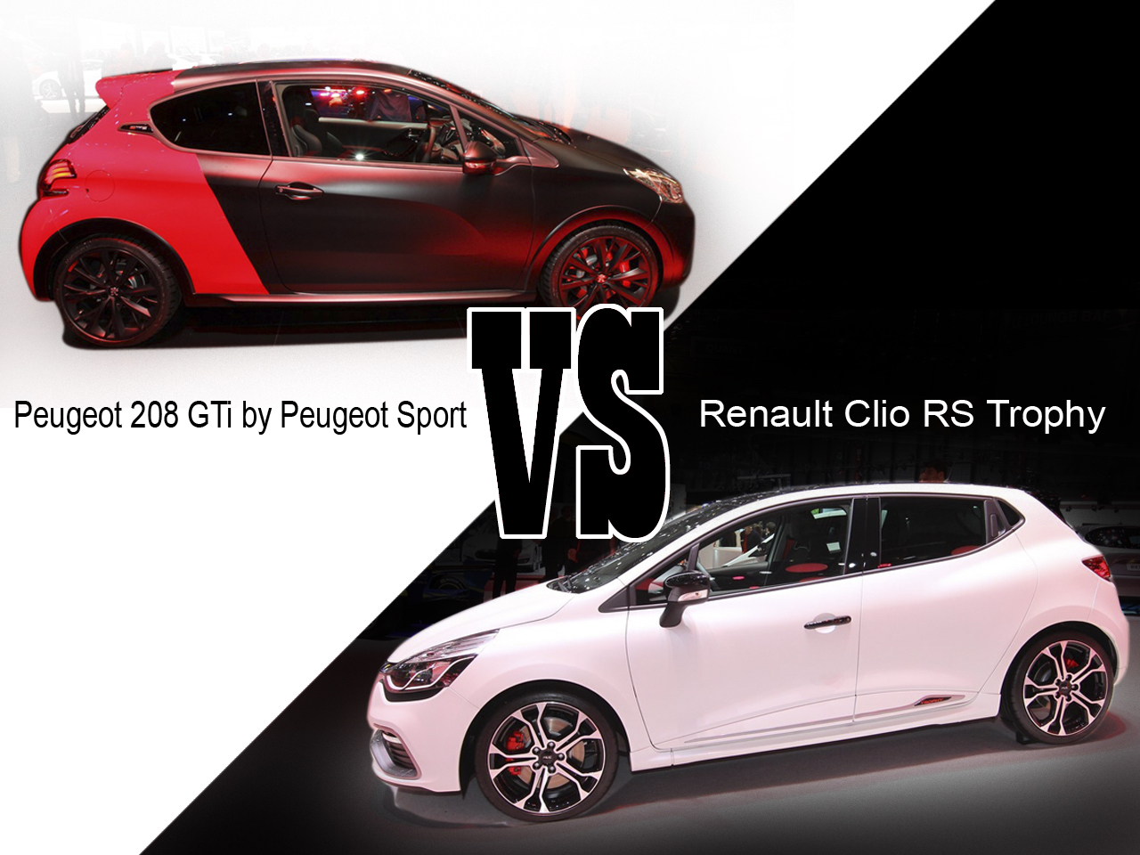 208 gti by peugeot sport vs clio rs trophy d j le match gen ve l 39 argus. Black Bedroom Furniture Sets. Home Design Ideas