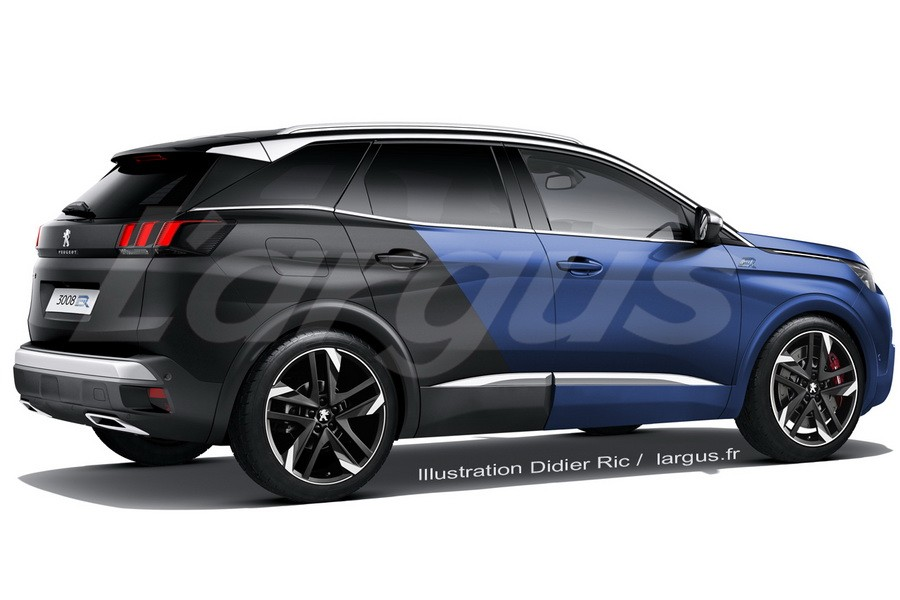 peugeot 3008 une version r hybrid de 300 ch en 2019 photo 3 l 39 argus. Black Bedroom Furniture Sets. Home Design Ideas