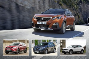 Peugeot 3008 2017 vs concurrents vue avant