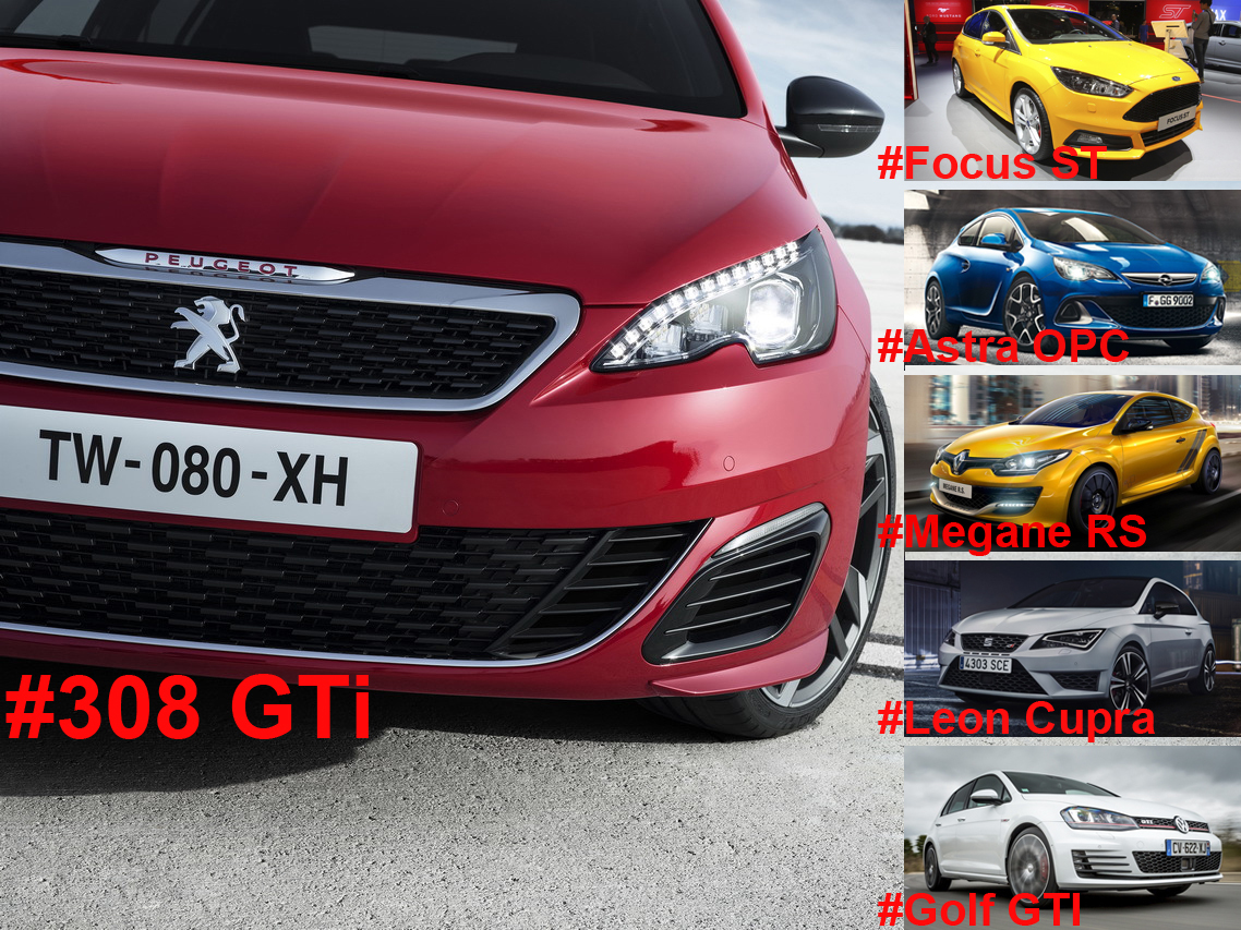 peugeot 308 gti 2015 face ses rivales l 39 argus. Black Bedroom Furniture Sets. Home Design Ideas