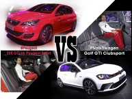 Peugeot 308 GTi vs VW Golf GTI Clubsport : le match depuis Francfort !
