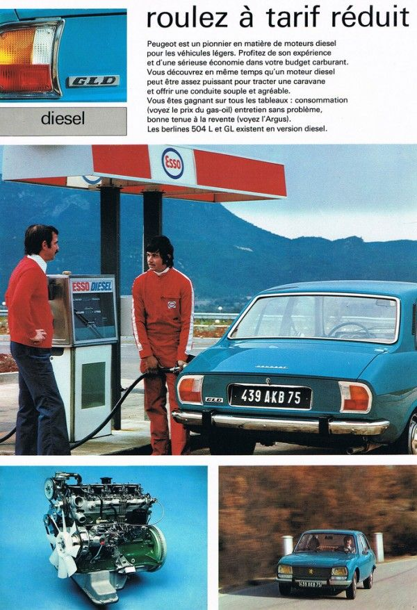 les petites histoires de la peugeot 504 le diesel a la. Black Bedroom Furniture Sets. Home Design Ideas