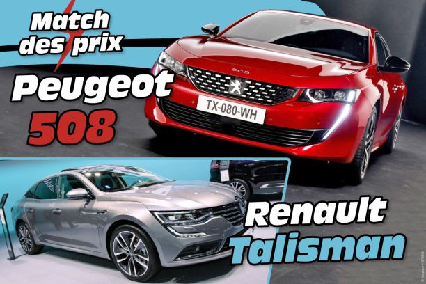 tarif peugeot 508 vs renault talisman le match des prix l 39 argus. Black Bedroom Furniture Sets. Home Design Ideas
