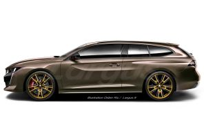illustration Peugeot 508 Shooting Brake riviera Didier RIC
