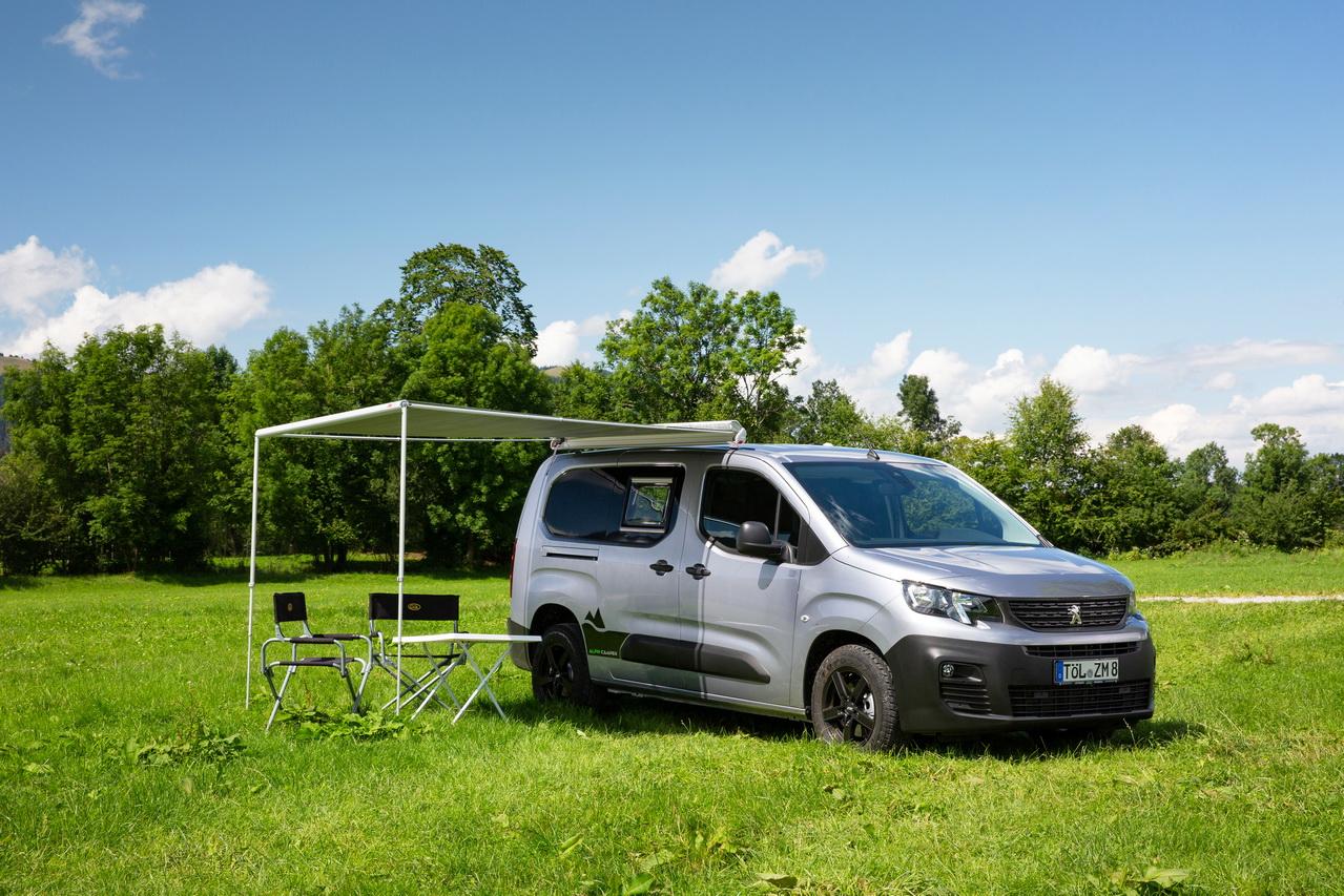 Peugeot Partner Alpin Camper Le Peugeot Rifter En Mode Camping Car