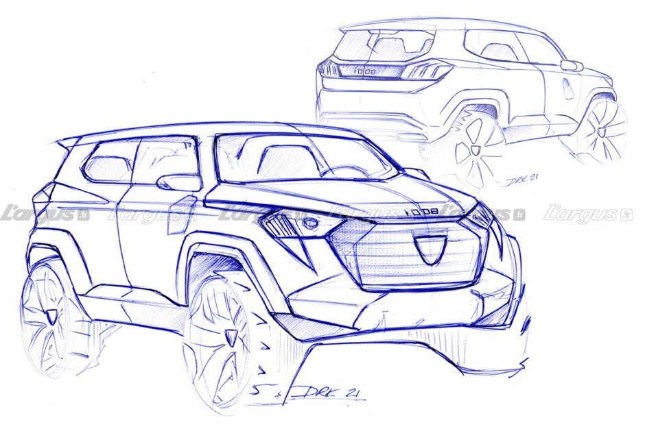 Boceto de diseño futuro del Peugeot P44