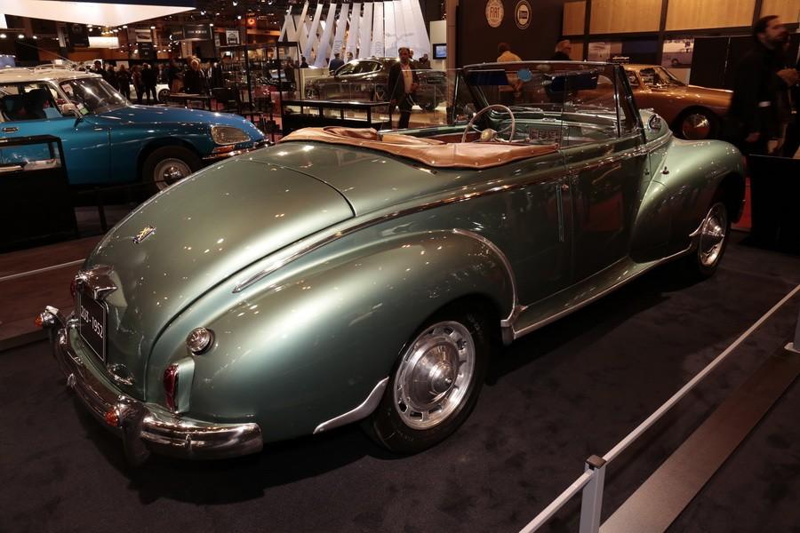r tromobile 2017 tous les mod les du stand peugeot peugeot 203 cabriolet 1952 l 39 argus. Black Bedroom Furniture Sets. Home Design Ideas