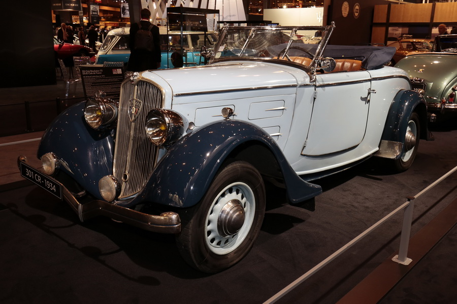 r tromobile 2017 tous les mod les du stand peugeot roadster 301 cr grand luxe 1934 l 39 argus. Black Bedroom Furniture Sets. Home Design Ideas