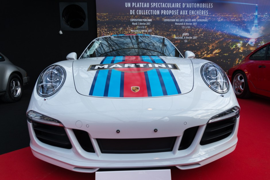 nos photos de la vente aux ench res rm sotheby 39 s 2017 paris porsche 911 carrera s martini. Black Bedroom Furniture Sets. Home Design Ideas
