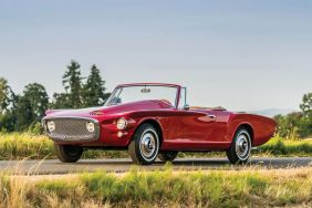 Plymouth Asimmetrica Roadster 1961 rouge vue avant