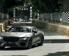 Polestar 1 grise piste de Goodwood 2018