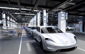Ligne assemblage Porsche Taycan