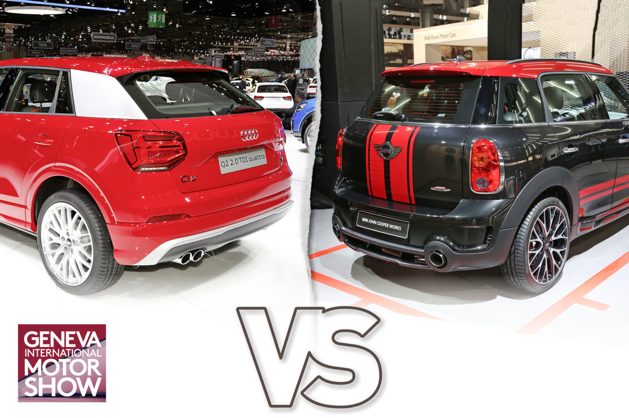 audi q2 vs mini countryman premier duel en images audi q2 vs mini countryman l 39 argus. Black Bedroom Furniture Sets. Home Design Ideas