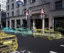 range rover evoque cabriolet 2015 scultpture en fil de fer