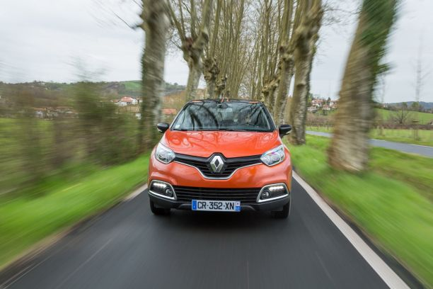 Face avant Renault Captur orange