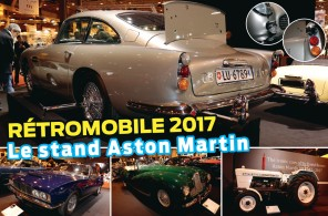 Retromobile 2017 : le stand Aston Martin dont celle de James Bond