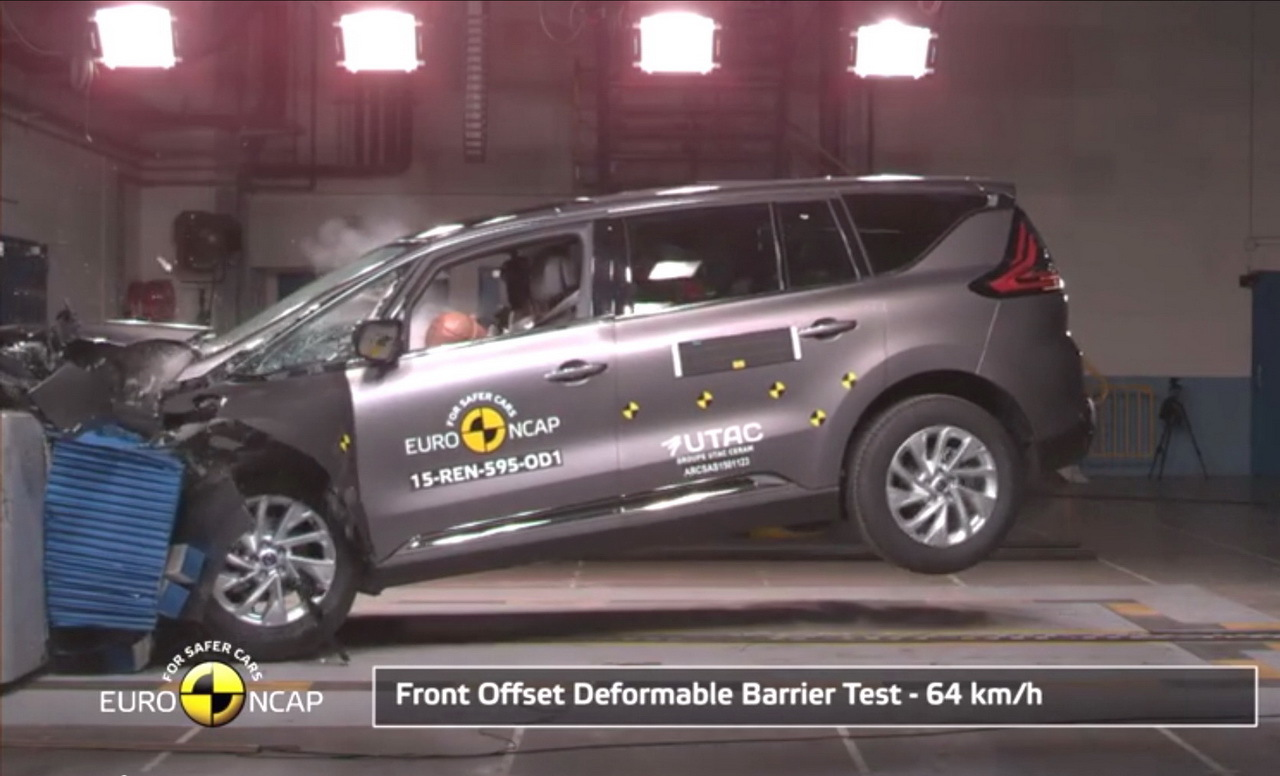 nouveau renault espace 5 toiles au crash test euro ncap photo 1 l 39 argus. Black Bedroom Furniture Sets. Home Design Ideas
