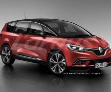 illustration photomontage Renault Grand Scénic 2016 vue avant