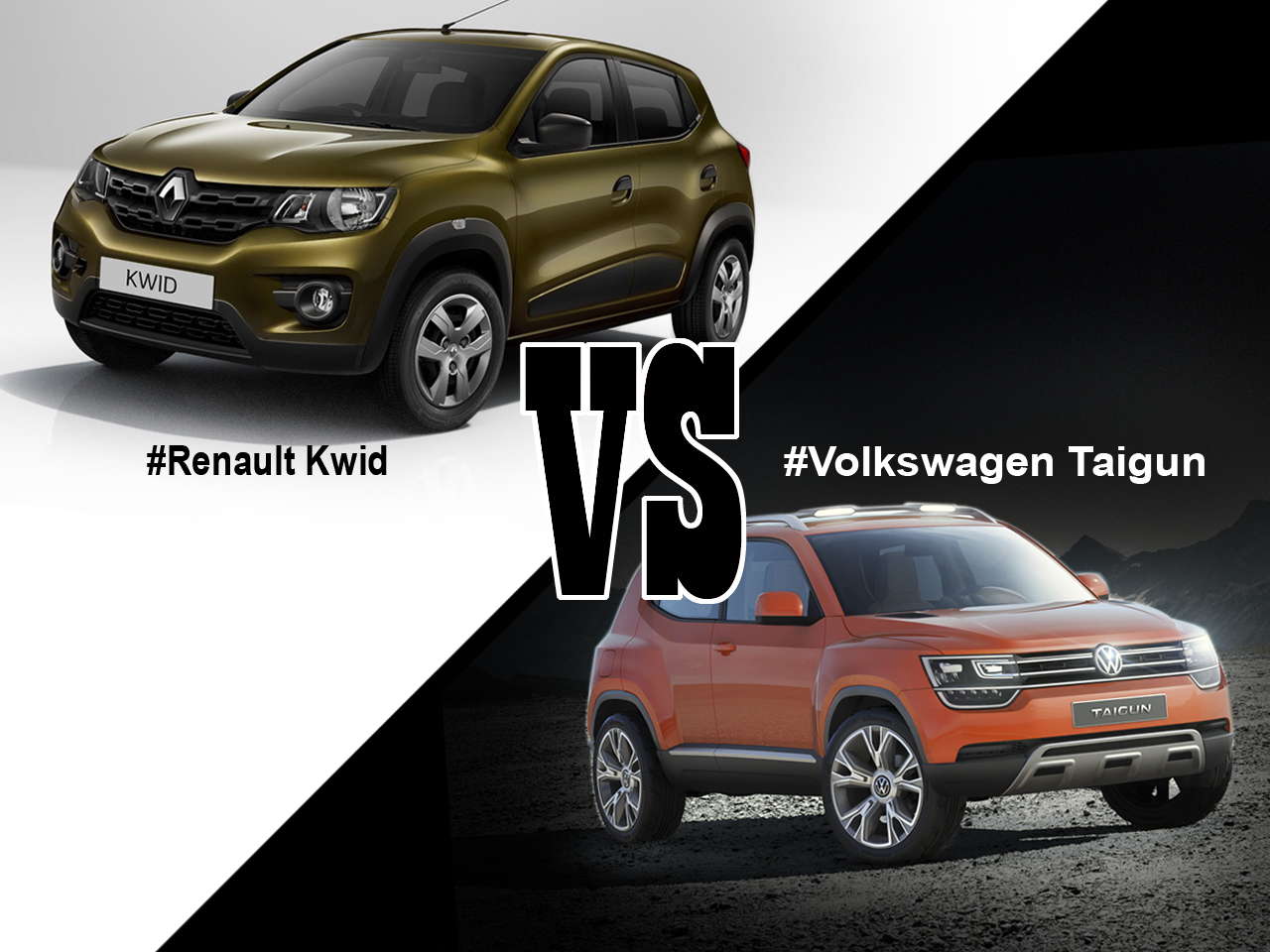 Renault Kwid Vs Volkswagen Taigun Le Match Des Quot Suv