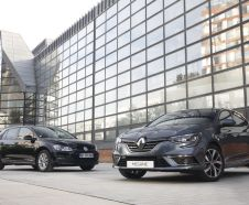Renault M�gane 4 et Volkswagen Golf 7 face avant